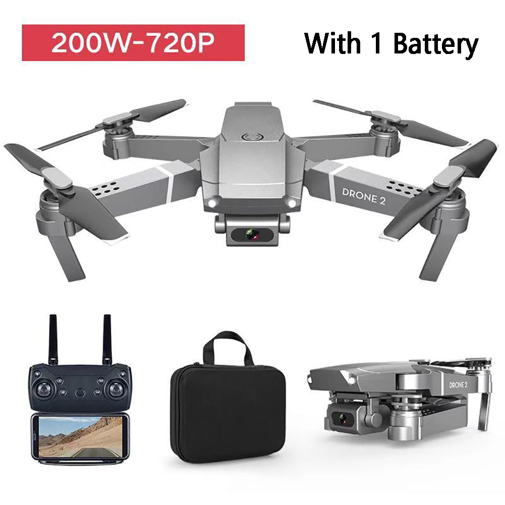 E68 Video Kids Gift RC Drone LED Light Wide Angle Rechargeable Folding Quadcopter Altitude Hold 2 4GHz WIFI FPV Multifunctional
