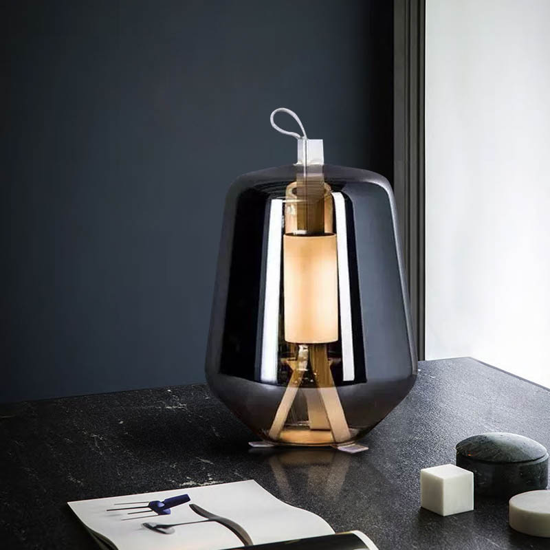 Hot Offer Cba140 Nordic Creative Led Table Light Smoky Gray Glass Reading Study Room Desk Lamp Bedroom Bedside Coffee Shop Bar Decoration Fixture Cicig Co
