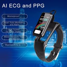 Smart Watch Sports Fitness Compatible IOS & Android Heart Rate Tracker Blood Pressure AI ECG with Headset Fashion smart watch(China)