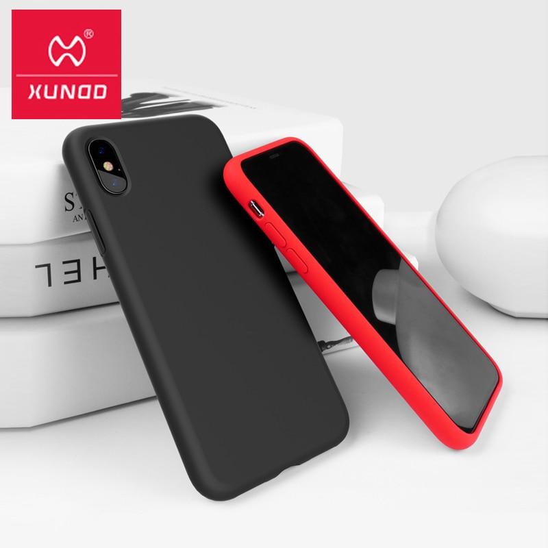 Para o iphone xs xs max xr caso de telefone luxo xundd silicone líquido all inclusive à prova choque capa traseira para iphone xs max 2018