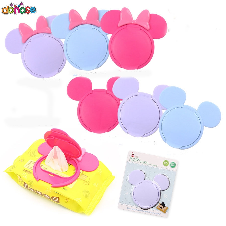 1Pc Baby Wet Wipes Newborn Baby Reusable Colorful Wet Paper Lid Cover Wet Tissues Reusable Lid Mother Baby Care Useful Accessory