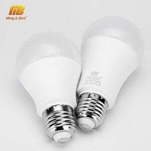 Image 1 - 6 sztuk/partia żarówka LED E27 9W 12W 15W 18W AC220V Lampada dzień biały zimny biały ciepły biały wysokiej jasności lampa do sypialni salon