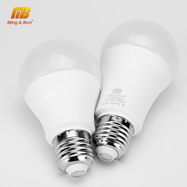 6 sztuk/partia żarówka LED E27 9W 12W 15W 18W AC220V Lampada dzień biały zimny biały ciepły biały wysokiej jasności lampa do sypialni salon