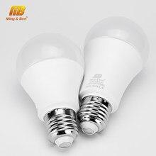 Ampoule LED E27 9W 12W 15W 18W ac 220v, blanc froid, blanc chaud, lampe à haute luminosité pour chambre à coucher, salon, 6 pièces/lot