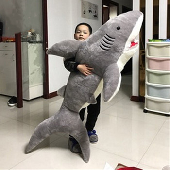 78'' Giant Big Shark Gray Plush Soft Toys Doll Stuffed Animals Pillow Kids Gift Plush Toys 220cm stuffed animals giant removable crocodile doll for decorative pillows kids toys valentines day gift juguetes brinquedos