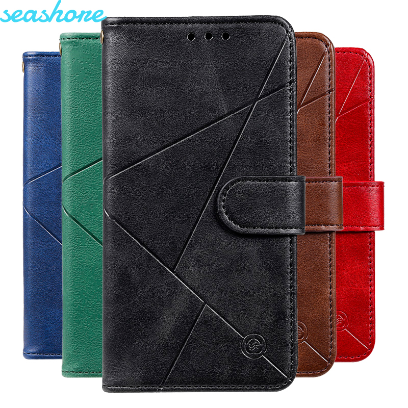 Business Diamond PU Leather Case For Motorola Moto G8 Power Wallet Case For Moto G7 G6 E5 PLAY Plus Magnetic Flip Cover