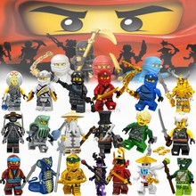 2019 Ninja Figures Lloyd Kai Jay Zane Cole Nya Carmadon Ninjagoed Movie Figuras Building Blocks Set Toys For Children Boy Gifts(China)