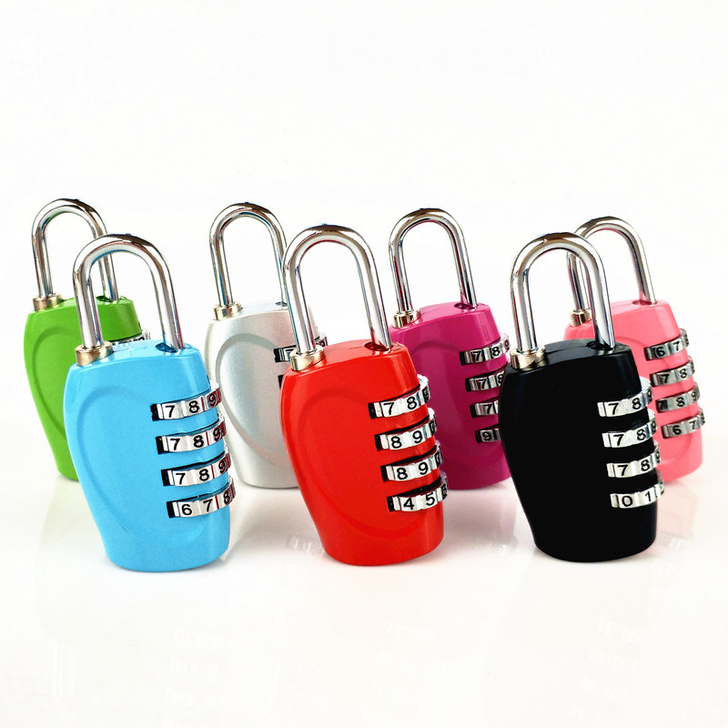 4 Dial Digit Security Password Lock Combination Zinc Alloy Lock Suitcase Luggage Coded Lock Cupboard Cabinet Locker Padlo