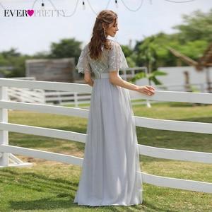 Image 5 - ローブ · ド · 夜会スパークドレスロング今までかなりEP00904GY aラインoネック半袖フォーマルドレス女性のエレガントなドレス