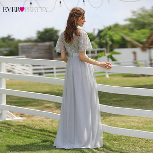 Image 5 - גלימת דה Soiree Sparkle ערב שמלות ארוך פעם די EP00904GY אונליין O צוואר קצר שרוול פורמליות שמלות נשים אלגנטי שמלות