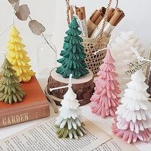 3d форма рождественской елки Пищевая силиконовая Ароматерапия
