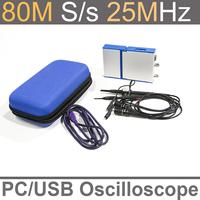 LOTO USB/PC Oscilloscope OSC802, 80MS/s Sampling Rate, 20MHz Bandwidth, for automobile, hobbyist, student, engineers