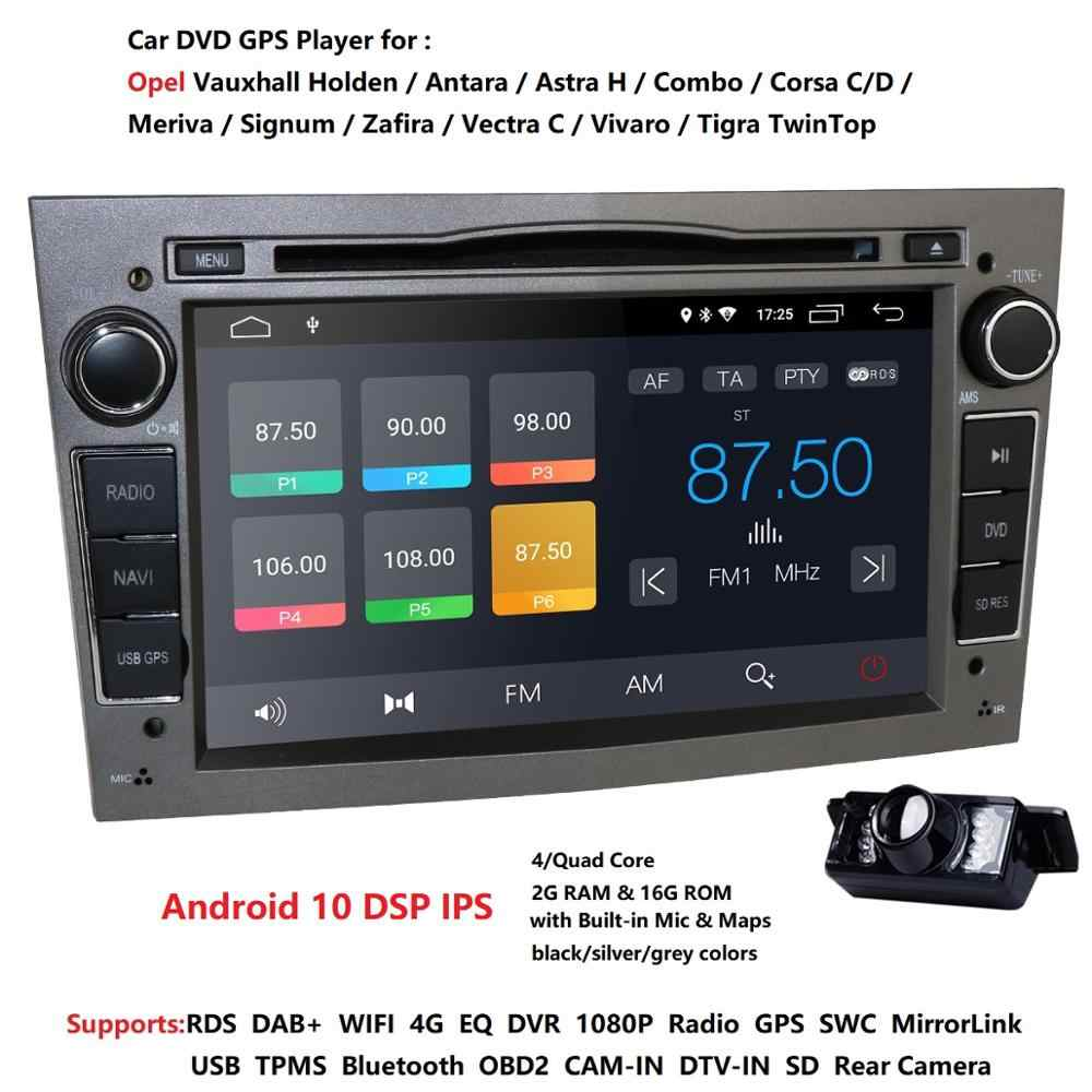 IPS DSP Android 10 4G 64G 2 DIN Mobil Multimedia GPS untuk Vauxhall Astra H Vectra Antara Zafira corsa DVD PLAYER Stereo CAM DTV DAB