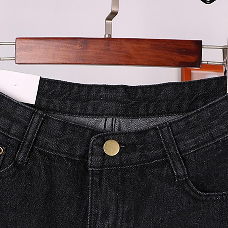 2019 Women Casual High Waist Women Vintage High Waist Mini Short Pants Frayed Raw Hem Ripped Distressed Denim Female Shorts in Shorts from Women 39 s Clothing
