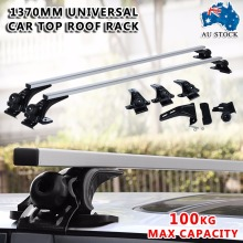 137cm Universal Car Top Roof Cross Bars Rack Aluminium Luggage Cargo Carrier Crossbars Fit for Most Flat