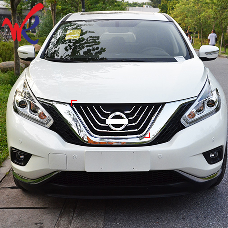 Loyalty for Nissan Murano 2015 2016 Front Center Grille Cover Trim ABS Chrome Car Styling Auto Accessories image