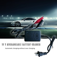 Black Short Circuit Protection 12 V 1300mA Sealed Lead Acid Rechargeable Automatic Battery Charger Per Car Truck Motorcycle