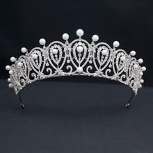 Pretty Cubic Zirconia Royal Replica Tiara for Wedding,Crystal Princess Tiaras Diadem for Girl,Prom,Party Head Jewelry CH10387
