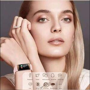 Image 5 - Gelée peigne femmes montre intelligente hommes Bracelet IPS couleur écran moniteur de fréquence cardiaque pression artérielle dames Smartwatch pour IOS android
