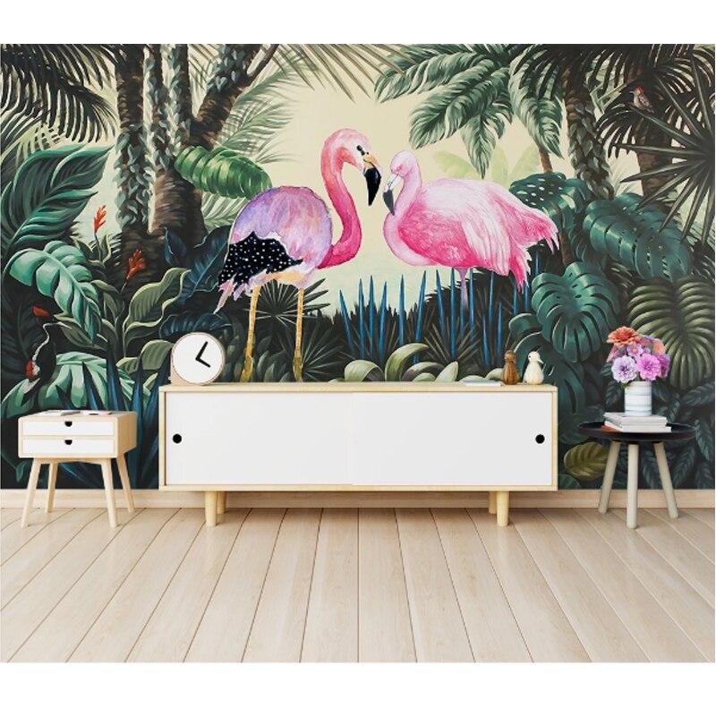 2020Home Improvement 3D Wallpaper for Walls 3d Decorative Vinyl Wall Paper Modern minimalist flamingo background wall wallpapers