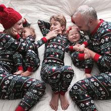 Família de natal pai-filho combinando roupas femininas natal família olhar roupas adulto crianças pijamas conjunto bebê menina menino ano novo 2020