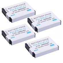 Lot de 4 batteries ENEL12 EN EL12 pour appareil photo Nikon Coolpix AW100s AW110s AW120s S610 S610c S710 S620 S630 S8000 S6000 S640 S70