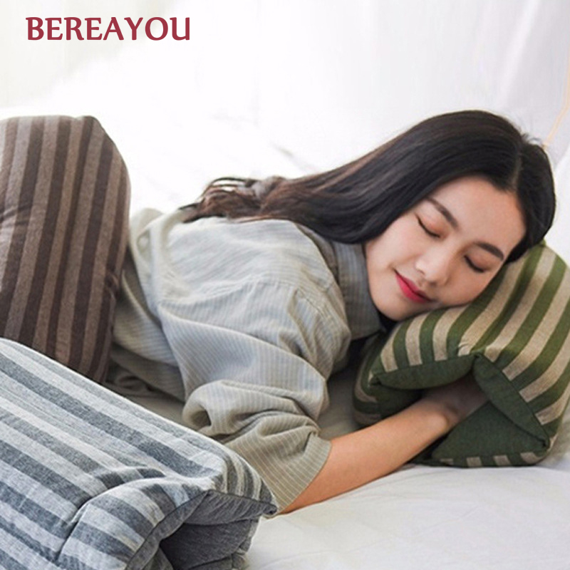 Japanese Pillows Hand Roll For Home Office Rest Airplane Neck Pillow Soft Travel Cervical Healthcare Bedding подушки
