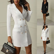 Autumn Winter Suit Blazer Women 2019 New Casual Double Breas
