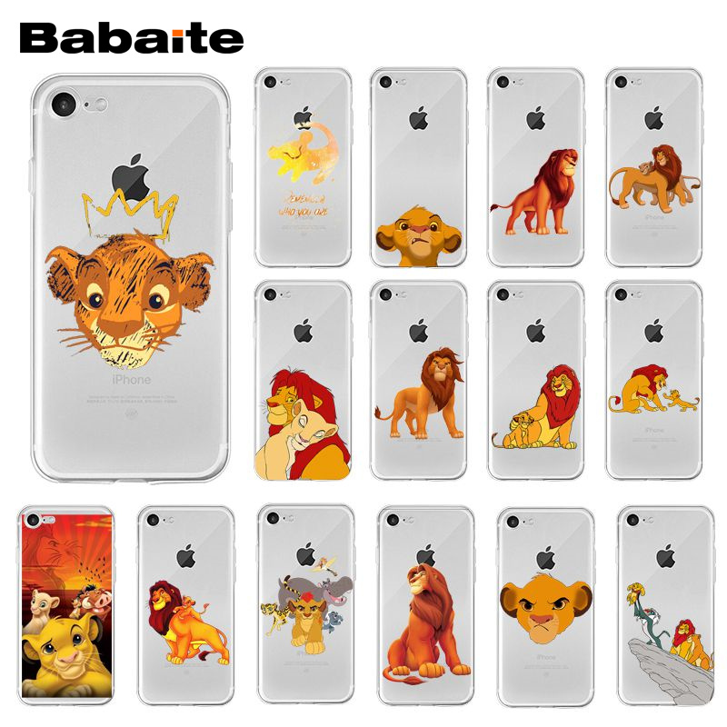 Babaite <font><b>Lion</b></font> <font><b>King</b></font> Hakuna Matata Phone <font><b>Case</b></font> for <font><b>iPhone</b></font> XR 11 Pro Max XS MAX 8 7 <font><b>6</b></font> 6S Plus X 5 5S SE image