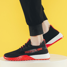 2019 New Mens Sneakers Casual Shoes Mesh Breathable Male Spring Fashion Lace-Up Rubber Sole Homme Trainers