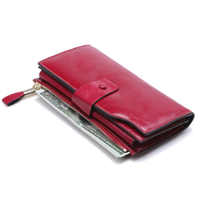 Fashion Long Women Leather Wallet Womens Wallets ForCell Phone Genuine
