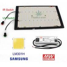 Interruptor de encendido/apagado regulable para Samsung, tablero lm301B led CREE XPE UV IR Quantum 120W 240W QB288, luz de cultivo con controlador Meanwell