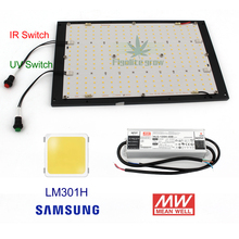 Kısılabilir ON/OFF anahtarı CREE XPE UV IR kuantum Samsung led lm301B kurulu 120W 240W QB288 Meanwell sürücüsü ile ışık büyümek