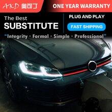 AKD Car Styling dla VW Golf 7 MK7 GTI 2013-2017 LED reflektor Golf7.5 oryginalny DRL Hid dynamiczny sygnał lampa czołowa Bi Xenon Beam