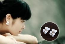New Design Sweet Jewelry Stud Earrings with Gardenia Fashion Girl Gift