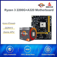 AMD Ryzen 3 2200G With Biostar A320 Motherboard CPU Comes With Set New Second Generation Integrated Card Office Devices
