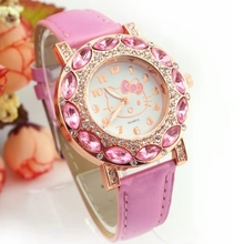 Children's Watches Fashion Belt Set Diamond Anglo-female Student