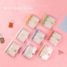 Creative Cute Transparent 3 ring Mini Loose-leaf Hand Book Student Portable Notebook ring binder Kawaii School Supplies