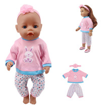 New doll clothes 3pcs/suit = rabbit + pants hair band for 18-inch American dolls and 43cm dolls, generation, gifts