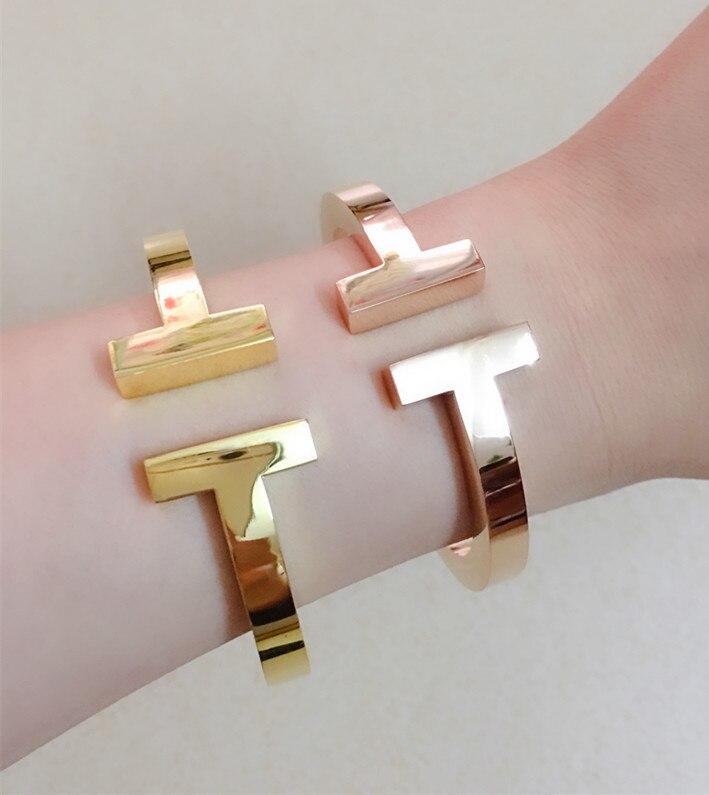 Bracelet de manchette en métal lourd à la mode pour femmes hommes