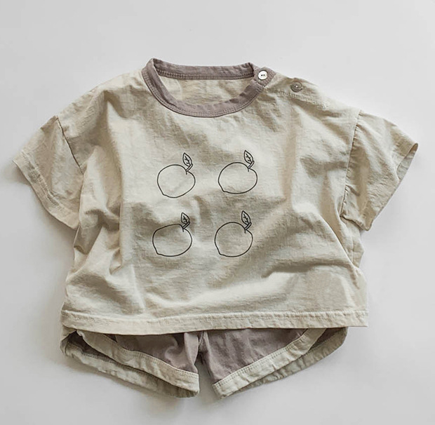 570.0¥  2020 Summer KoreanChildren's Clothing New Boys and Girls Cotton Leisure Short Sleeves round...