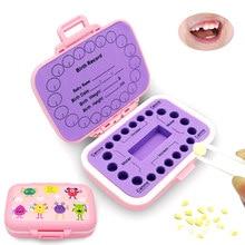 Dentes do bebê caixa de lembrança pp dente caixas de fadas caçoa o armazenamento do dente titular organizador bonito crianças dente fetal recipiente de cabelo