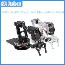Bricolage 6DOF 6 DOF Robot bras manipulateur alliage métallique mécanique bras pince griffe Kit MG996R DS3115 pour Arduino robotique éducation