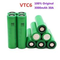 1-10 pz originale US18650 VTC6 batteria ricaricabile agli ioni di litio 18650 per VTC6 30A 3000mah per sony giocattoli strumenti torcia spedizione gratuita