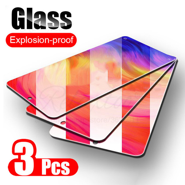 3PCS 9H Tempered Glass For Xiaomi Redmi Note 7 8 Pro 7A 8A Screen Protector on Redmi note7 note8 redmi7 redmi8 a Protective Film