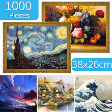Jigsaw Puzzles 1000 Pieces 38*26 cm Puzzle Game Wooden Assembling Puzzles for Adults Puzzle Toys Kids Children Educational Toys