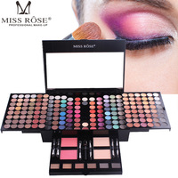 hot sell eye shadow palette glitter eyeshadow beauty glazed MISS ROSE Makeup Lip Long Lasting 180 Color Waterproof Eye Shadow Set