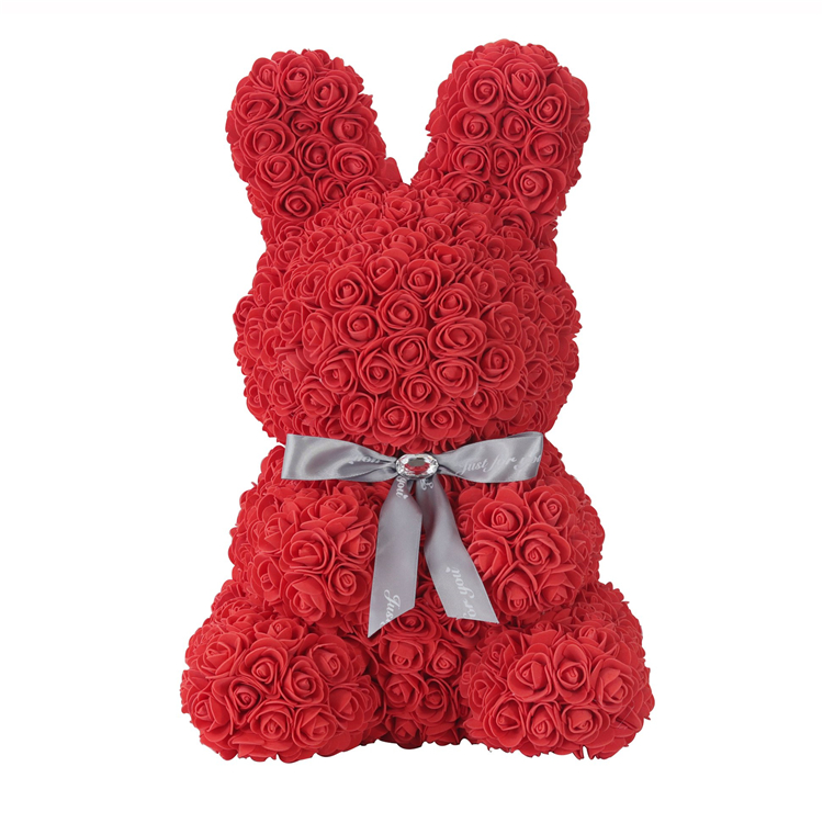 Valentine's Day Big Red Teddy Bear Rose Artificial Wedding Decoration Christmas Gift Valentine's Day Gift|Artificial & Dried Flowers| |  - title=
