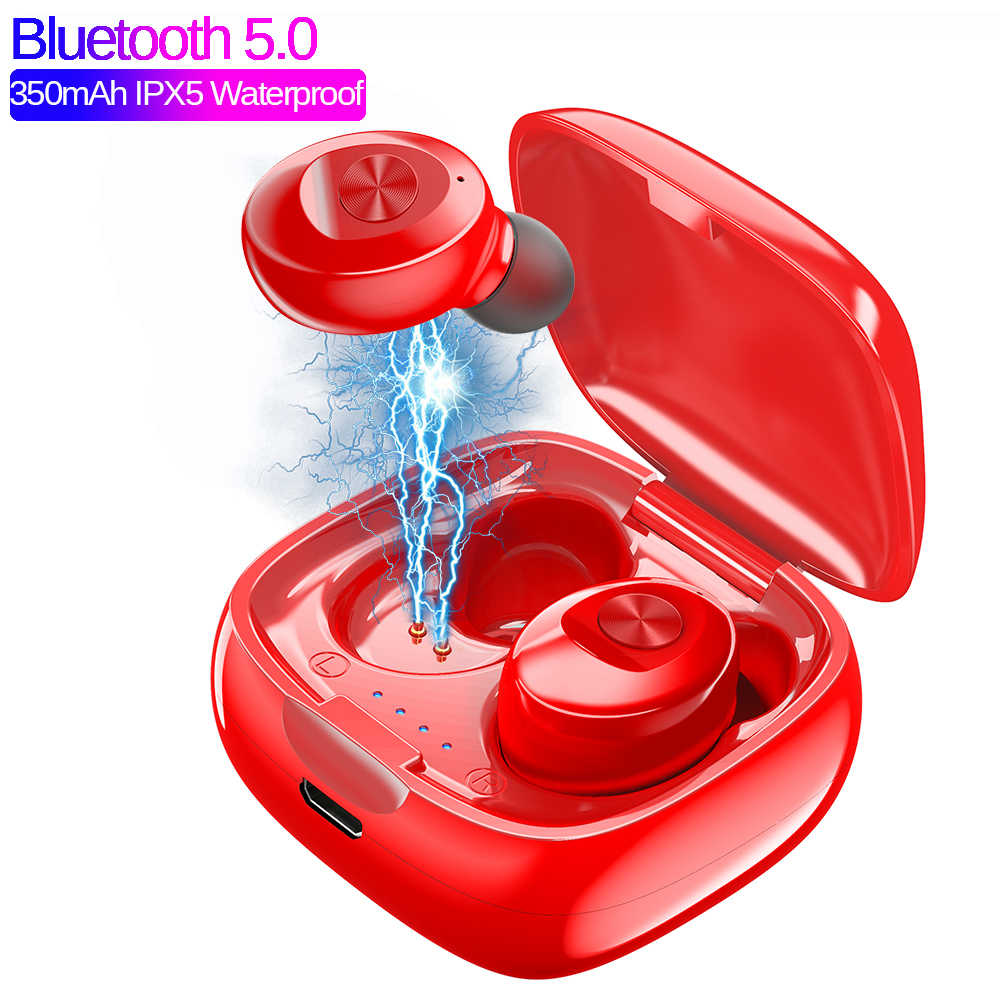 TWS Bluetooth 5.0 XG12 Wireless Earphone 5D Stereo Wireless Earbus HIFI Sound In-Earphone Sport Earphone Handsfree Game Headset