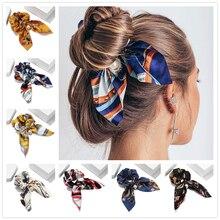 Nuevo lazo de gasa con bandas para pelo para mujer y niña, cinta para el pelo de Color liso, accesorios para el pelo